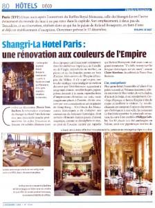 Shangri-La hotel Paris aux couleurs de l'Empire